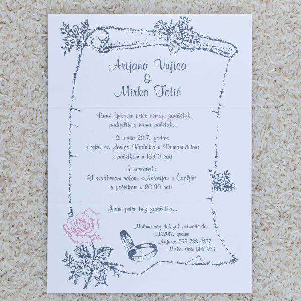 Wedding invitation C5
