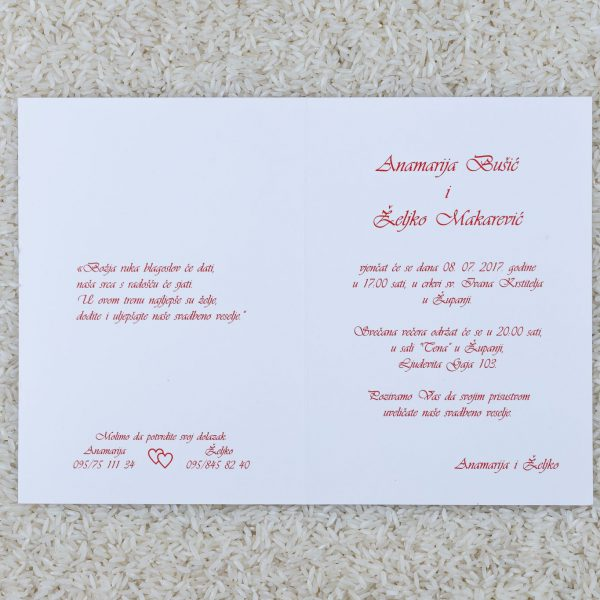 Wedding invitation C8