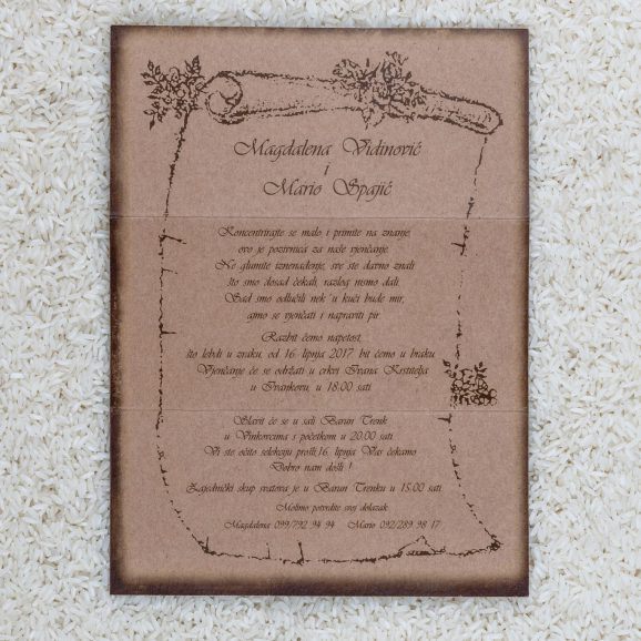 Wedding invitation B1