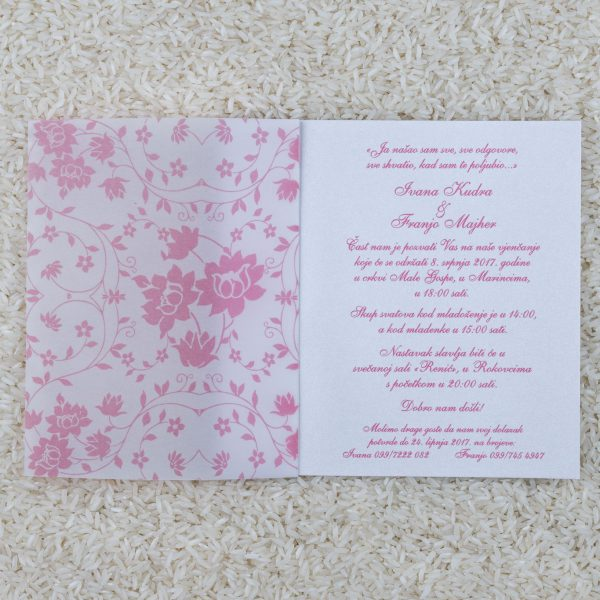Wedding invitation B4