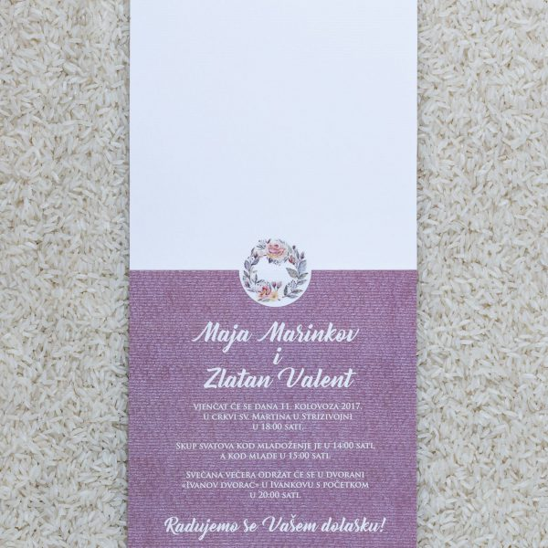 Wedding invitation B6