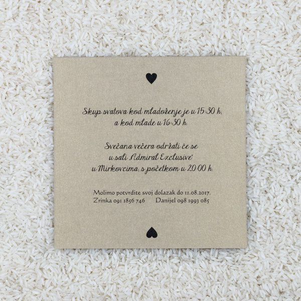 Wedding invitation D12