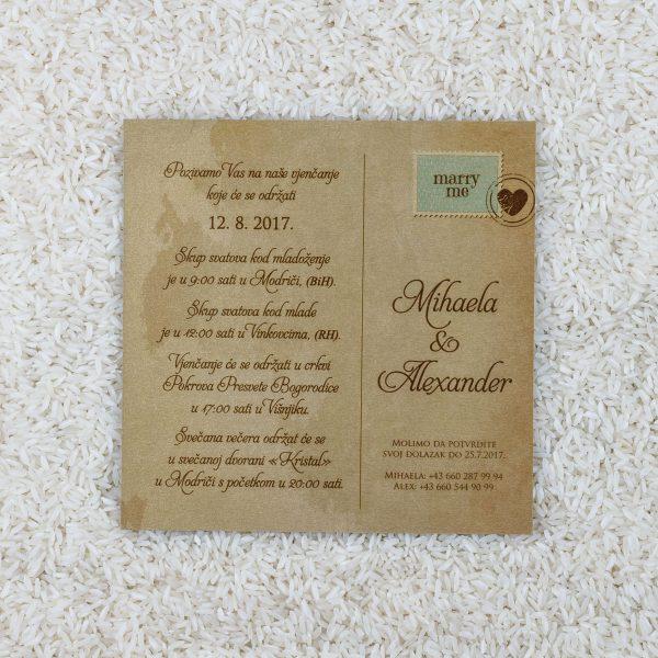 Wedding invitation D16