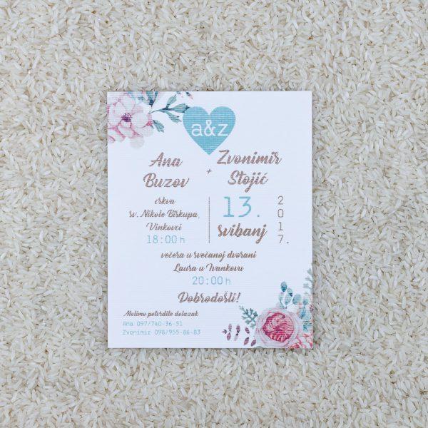 Wedding invitation D18